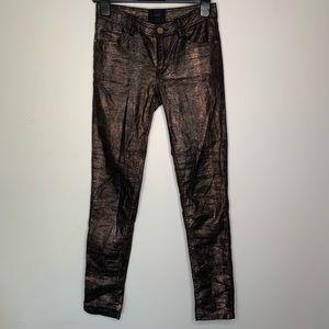 GESTUZ Jean Leggings Metallic Snake Skin Like Pant